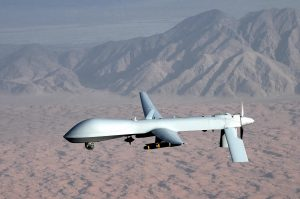 This predator drone is one that would be used in targeting killings, such as those that have claimed the lives of thousands of innocent civilians in the Middle East. Photo credit: Wikimedia Foundation