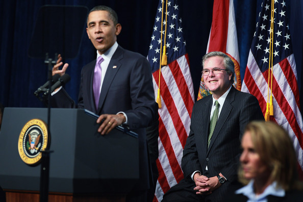 Barack+Obama+Jeb+Bush+President+Obama+Speaks+PTcDt_bq1Orl