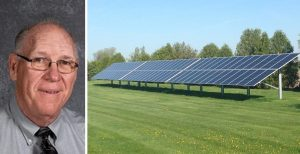 Iowa school district superintendent Darrell Smith took a cue from local hog and turkey farmers and cut operating costs by installing solar. Photo credits: WACO CSD, WACO CSD