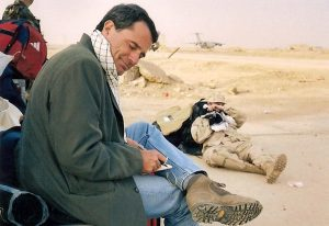 The author in Talil, Iran, April 2003. Photo credit: Charles Glass
