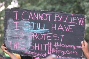 Photo Credit: Elvert Barnes/Flickr CAPTION: Sign at an anti-Police Brutality Rally in Washington D.C.