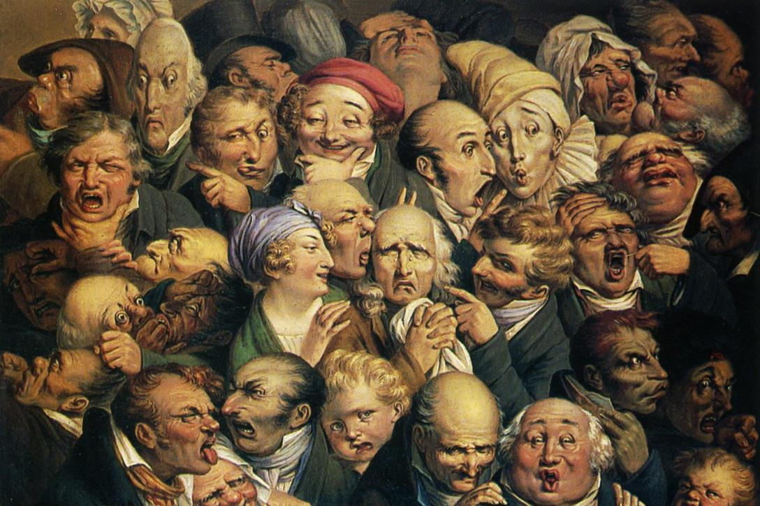 "Painting by Honoré Daumier titled ""Meeting of thirty-five heads of expression."" Photo Credit: Honore Daumier / WikiArt"