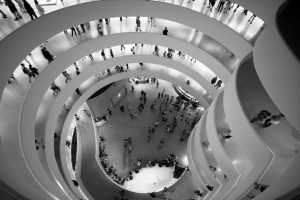 The Solomon R. Guggenheim Museum opened to the public on October 21, 1959. The museum was designed by Frank Lloyd Wright. Photo Credit: Graham Nadig / Flickr (CC BY 2.0)