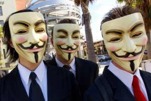 Members of Anonymous with Guy Fawkes masks. Photo credit: Peter K. Levy / Flickr (CC BY-SA 2.0)