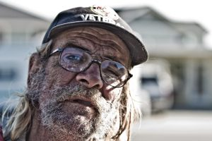 Vietnam war veteran. Photo credit: Jon Martin / Flickr (CC BY-NC-SA 2.0).