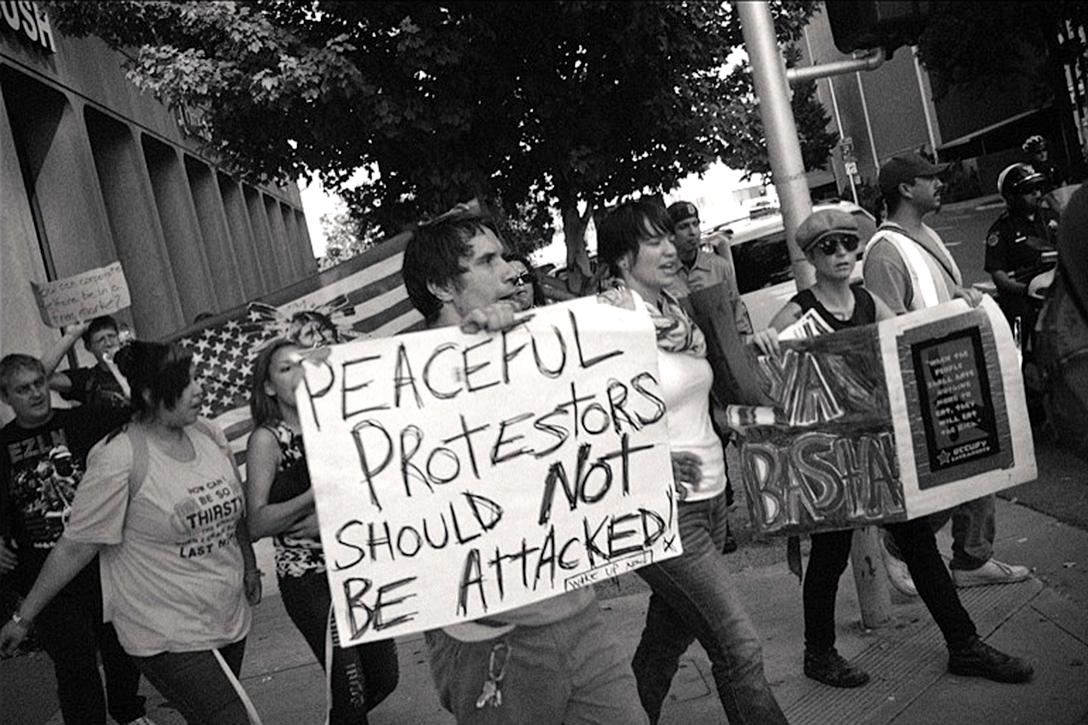 Peaceful Protest Occupy Sacramento
