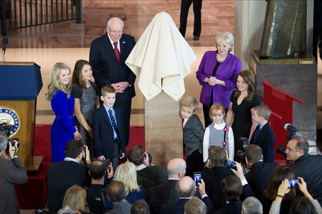 Unveiling the Cheney bust