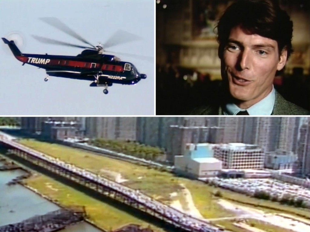 Donald Trump's helicopter, Christopher Reeve, West Side Manhattan Photo credit: Trump The Movie