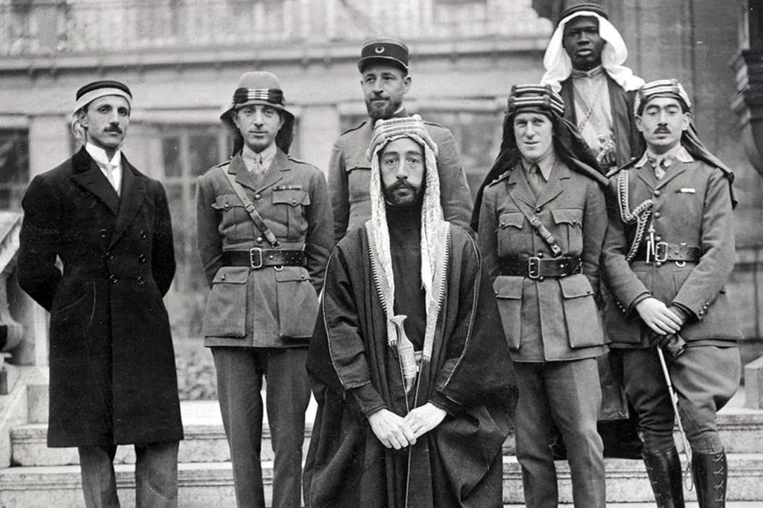 Emir Faisal with delegation at Versailles