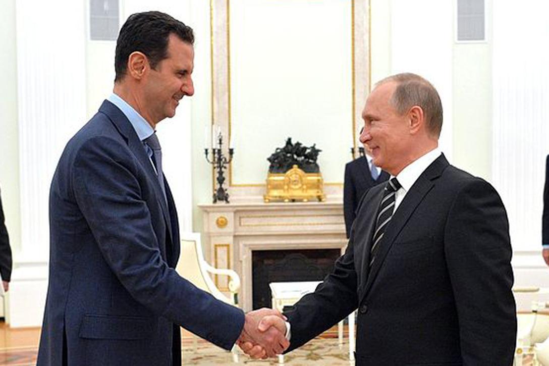 Bashar al-Assad and Vladimir Putin Photo credit: Presidential Press and Information Office / Wikimedia (CC BY 4.0)