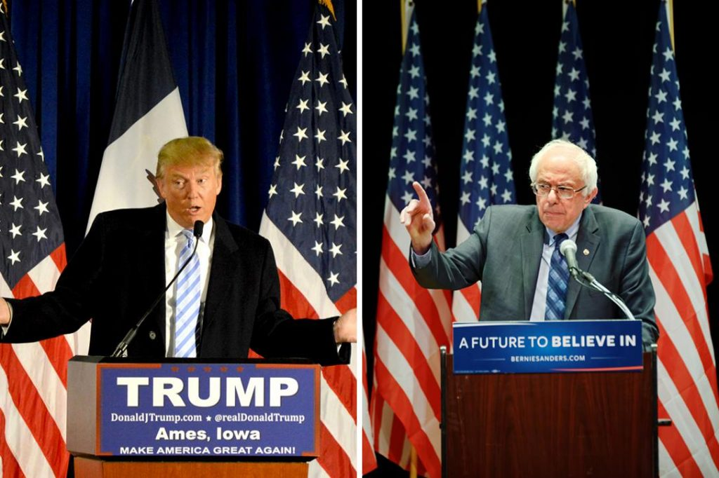 Donald Trump, Bernie Sanders