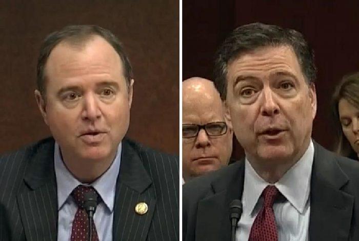 U.S. Representative Adam Schiff , FBI Director James Comey