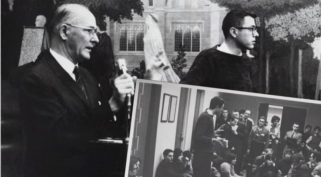 Young Bernie Sanders at sit-in
