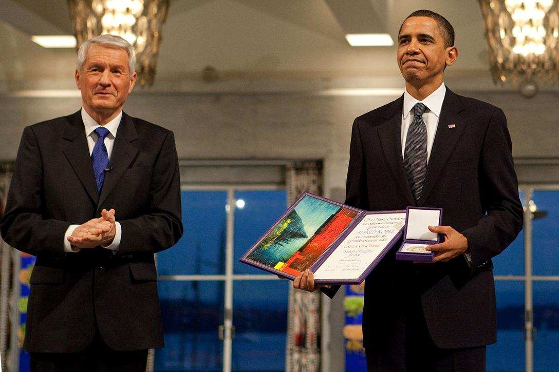 Obama receives nobel prize