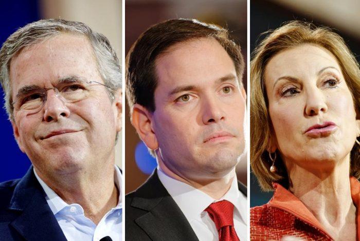 Jeb Bush, Marco Rubio, Carly Fiorina