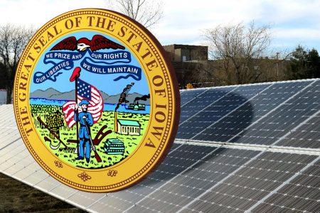 Iowa, solar panel, Waco Community School District