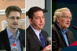 Edward Snowden, Glenn Greenwald, Noam Chomsky