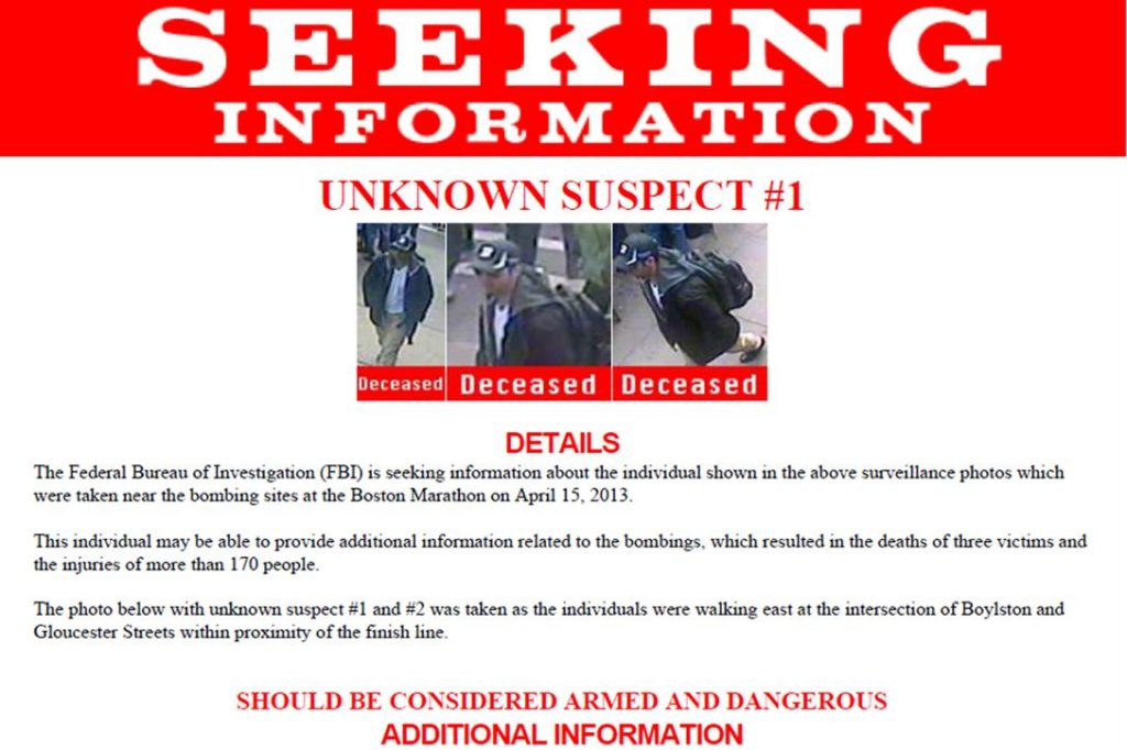 Poster Seeking Suspect 1