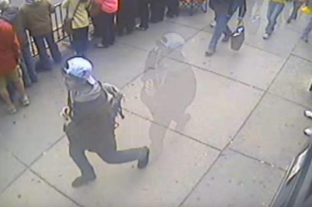 Dzhokhar Tsarnaev, gray backpack