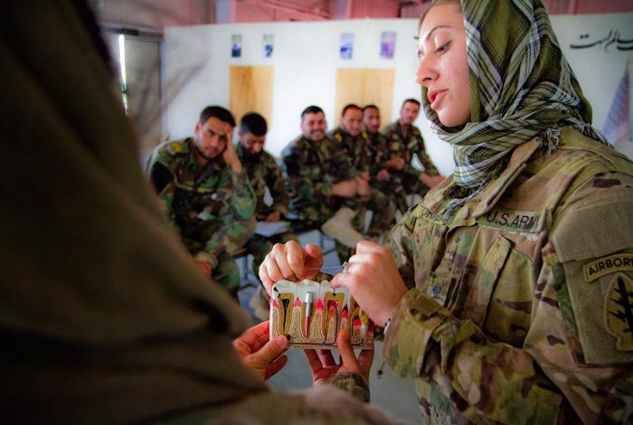 Afghan commandos learn to floss