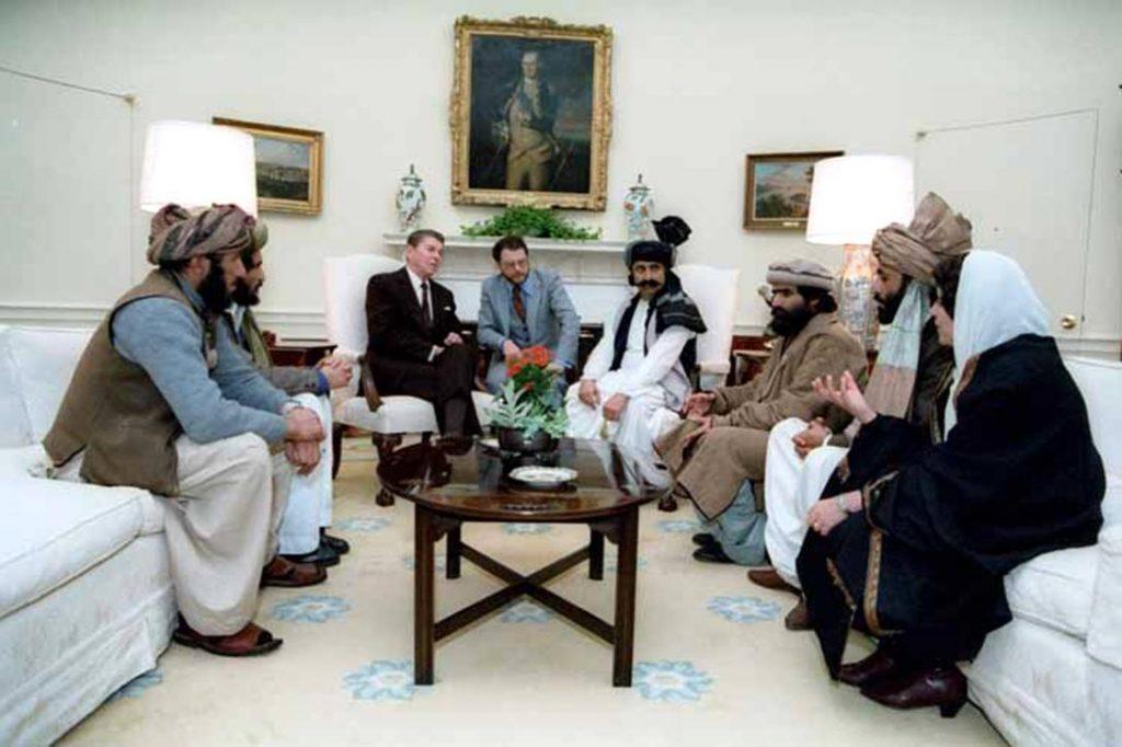 President Reagan, Afghan fighters