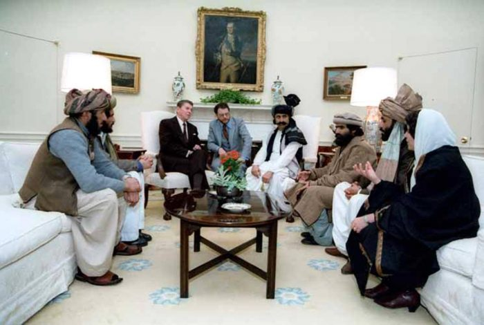 President Reagan, Afghan fighters