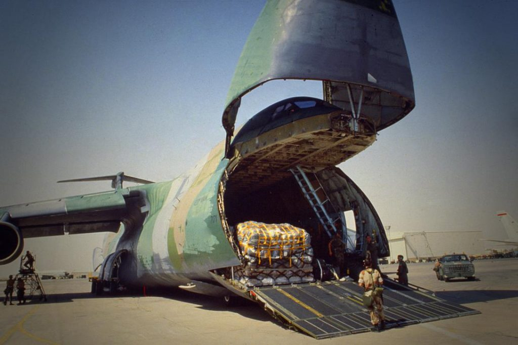 C-5 air cargo plane