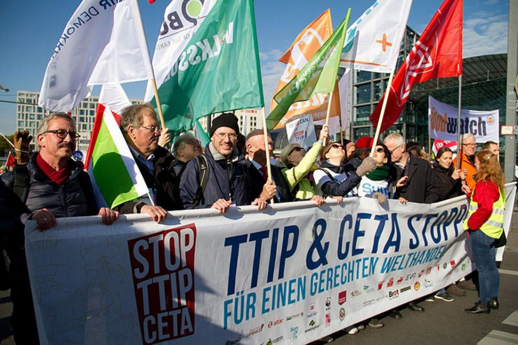 Demonstration against TTIP and CETA