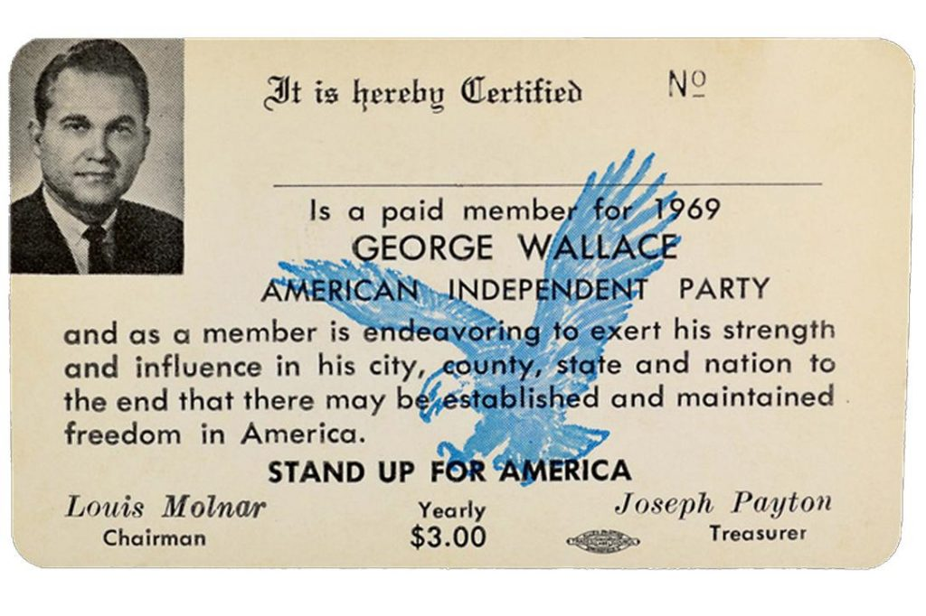 American Independent Party card