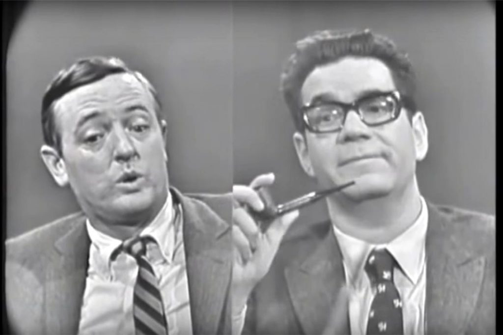 William F. Buckley interviews Mark Lane on Firing Line Photo credit: The Knowledge Archives / YouTube (Creative Commons Attribution license - reuse allowed)