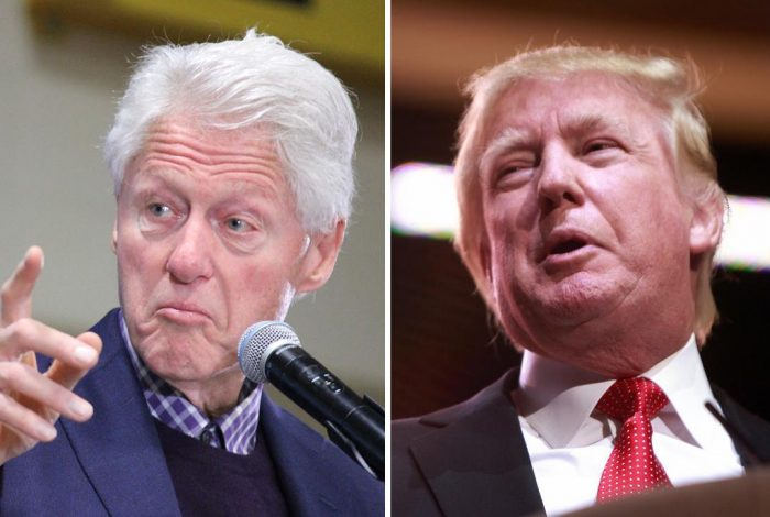 Bill Clinton, Donald Trump