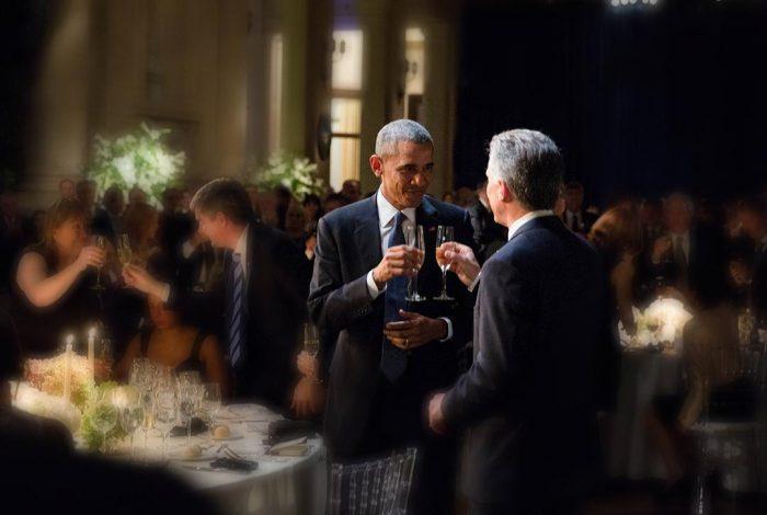 Barack Obama Toasting