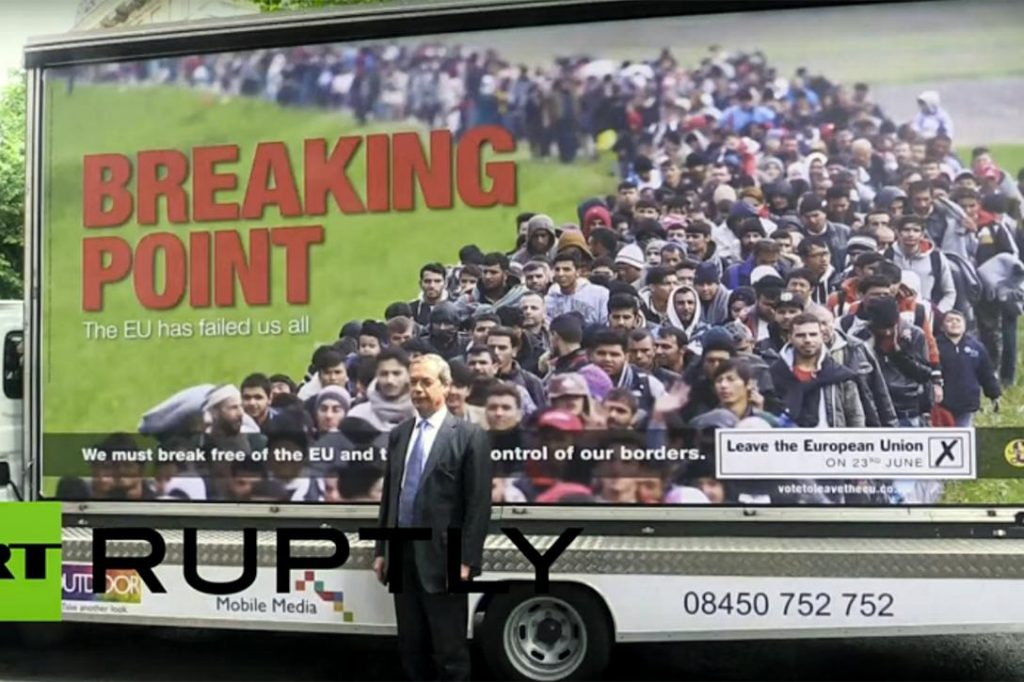 Nigel Farage, UKIP, leave poster