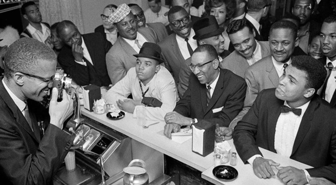 Malcom X and Muhammad Ali