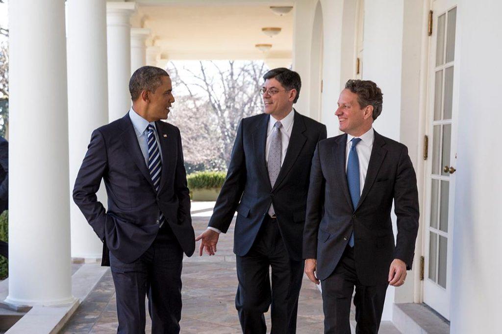 Barack Obama, Timothy Geithner, Jack Lew
