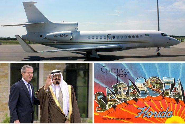 Bush, Abdullah, Sarasota, jet