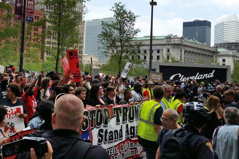 Stop Trump rally, RNC