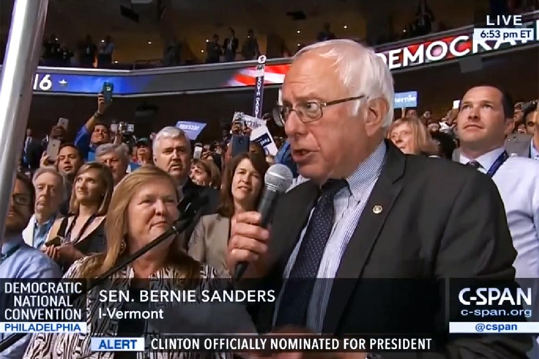 Bernie Sanders, DNC, 2016