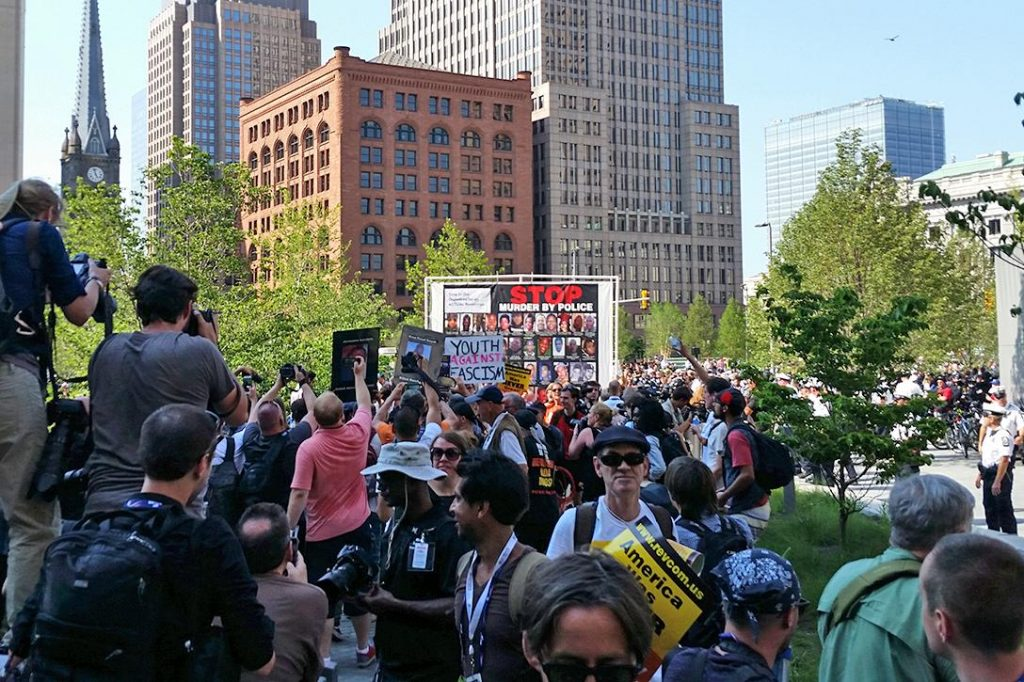 Rally, RNC, Stop Murder by Police