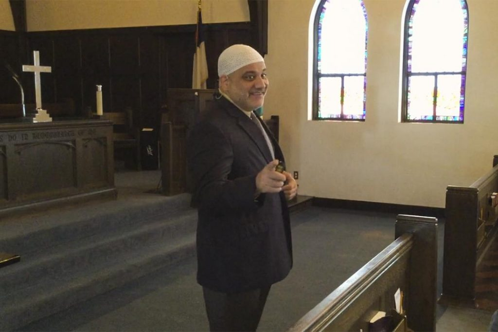 Imad Enchassi, senior imam and founder of the Islamic Society of Greater Oklahoma City Photo credit: fccedmond / Vimeo
