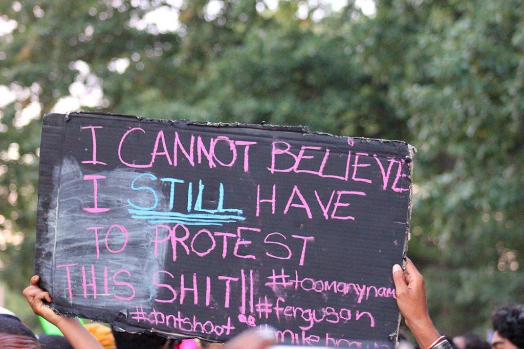 Ferguson protest sign