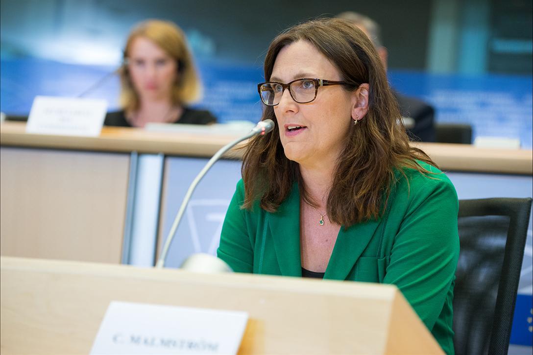 EU Trade Commissioner Cecilia Malmström  Photo credit: European Parliament / Flickr (CC BY-NC-ND 2.0)