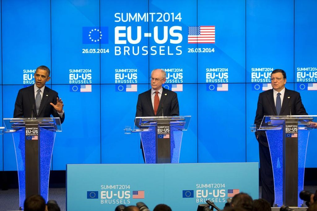 President Obama at EU-US Summit 2014 Photo credit: White House
