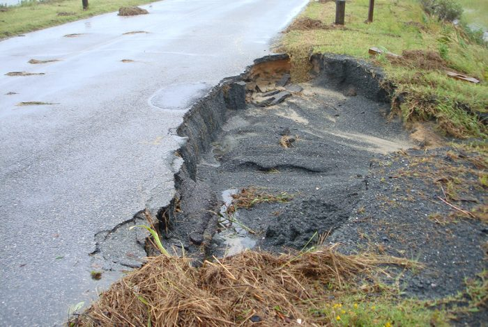 Ocean erosion to roads
