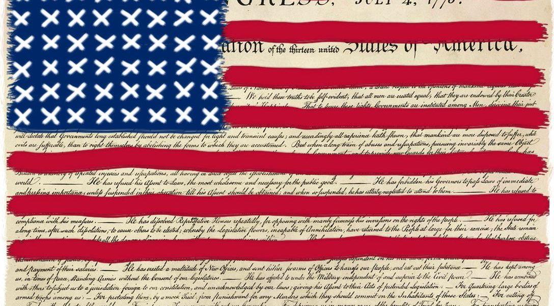 Redacted Flag, Declaration of Independance