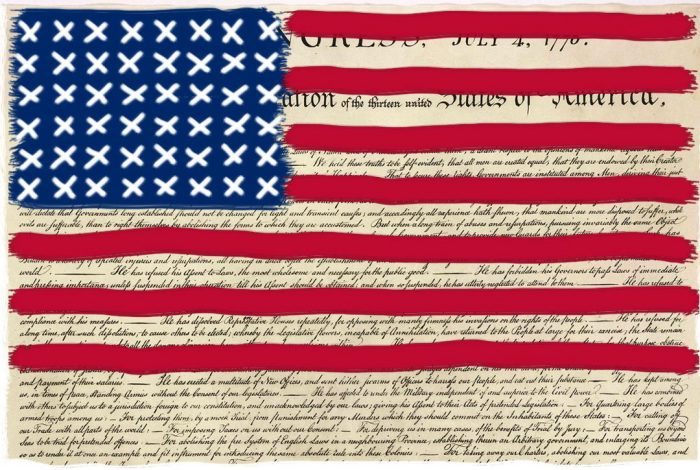 Redacted Flag, Declaration of Independance