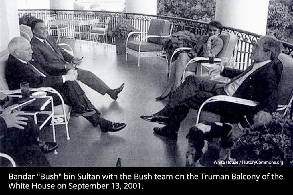 Bandar bin Sultan, George Bush, White House