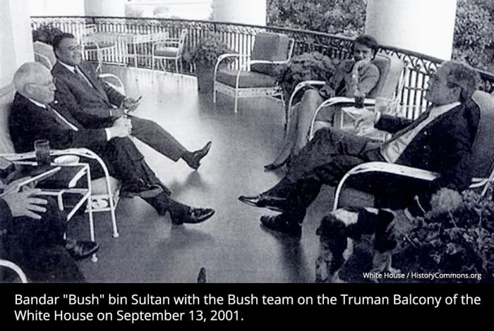 Bandar bin Sultan, George Bush, White House