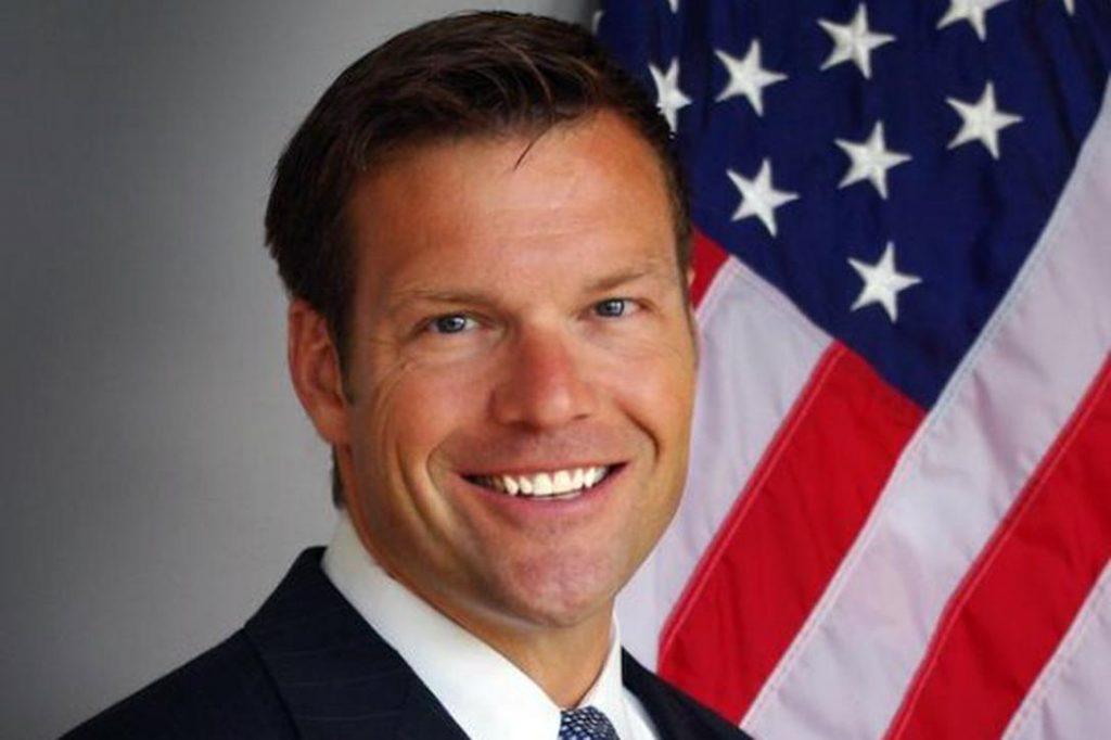 Kris Kobach, Kansas Secretary of State  Photo credit:  Dept. of Justice / Wikimedia