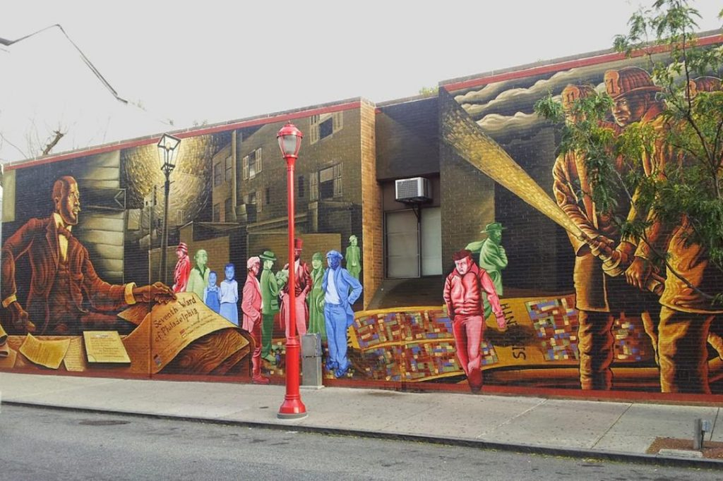 Mapping Courage, W.E.B. Du Bois, Mural,